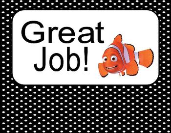 Editable Finding Nemo/Dory Behavior Clip Chart