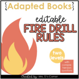 Editable Fire Drill Adapted Books [ Level 1 and Level 2 ]