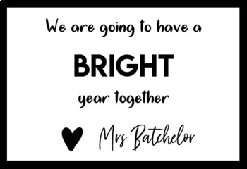 Editable First Day Gift Labels (Bright Year Highlighter Label)