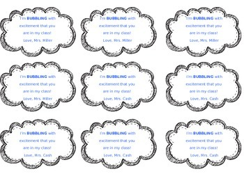 Editable First Day Gift Tags