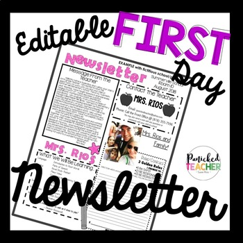Editable First Day  Interactive Newsletter