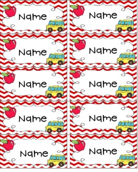 Editable First Day Name Tags By Christine Statzel Tpt