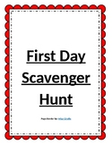 Editable First Day Scavenger Hunt!