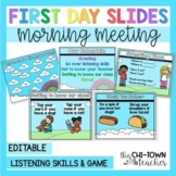 Editable First Day Slides!