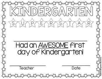 Editable First Day of School Awards