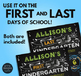 Editable First Day of School Sign & Last Day of School Sign • NAUTICAL THEME