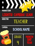 EDITABLE First Day of School Sign with Leadership Theme