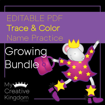 Editable First Name Writing Practice - PK-1 - Extra Large