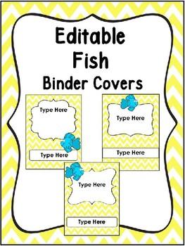 Editable Fish Binder Covers