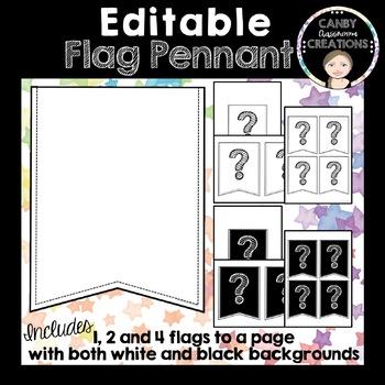 Editable Flags Pennant Banner