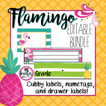 Editable Flamingo Bundle