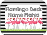 Editable Flamingo Desk Name Plates