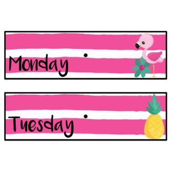 Editable Flamingo Drawer Labels