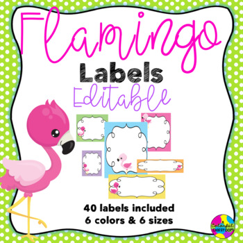 Editable Flamingo Labels
