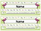 Editable Flamingo Nameplates