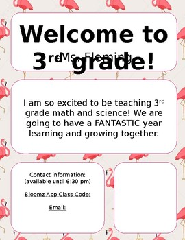 Editable Flamingo Teacher Letter- English and Spanish