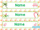 Editable Flamingo Theme - Decorate Your Classroom Kit - Name Cards, Binder, Rost