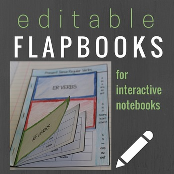 Editable Flapbook Template for Interactive Notebooks