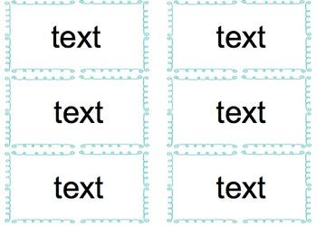 Editable Flash Cards
