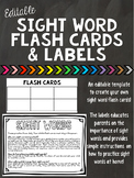 Editable Flash Cards and Labels