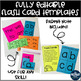 Editable Flash Cards for Homework or Review