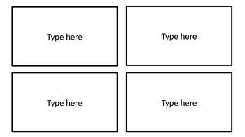 Editable Flashcard Template