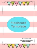 Editable Flashcard Template Double Side
