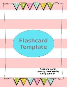 Editable Flashcard Template Double Side