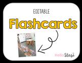 Large Editable Flashcards
