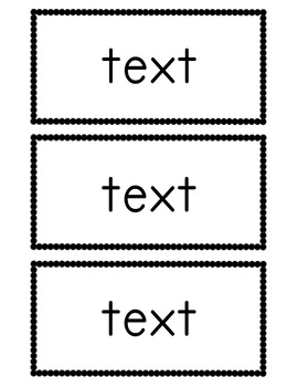 Editable Flashcards Template