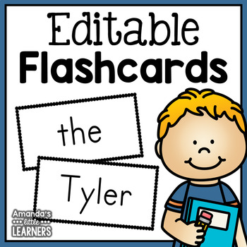 Editable Flashcards Template By Amandas Little Learners TpT - Flashcard template free