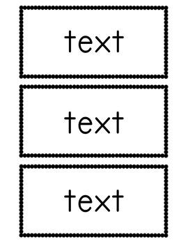 Editable Flashcards Template