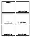 Editable Flashcards Template for Word