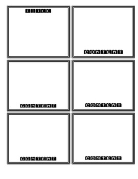 Editable Flashcard Template Worksheets & Teaching Resources ...