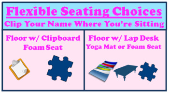 Editable Flexible Seating Bundle: Seating Chart, Contract, and Reflection
