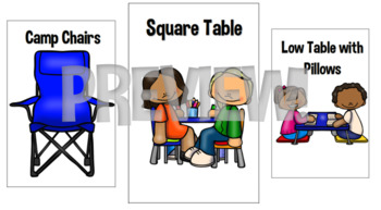Flexible Seating Choice Cards