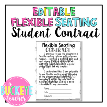 Editable Flexible Seating Contract