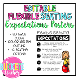 Editable Flexible Seating Expectations Posters
