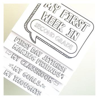 Editable Back to School Flip Book - My First Week
