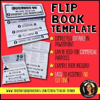 Editable FlipBook Template For Interactive Notebook Commercial Use