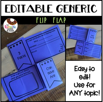 Editable Flip Flap - Use For ANY Topic
