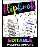 Editable Flip Book Template