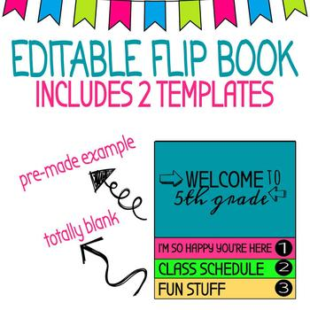 Editable Flipbook Meet the Teacher/Back To School Night
