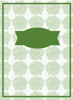 Editable Floral Binder Cover