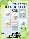 Editable Floral Binder Covers