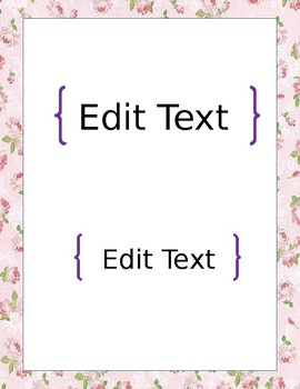 Editable Floral Binder Covers