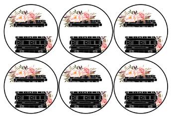 Editable Floral Book Bin Labels