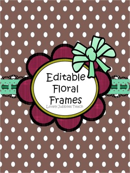 Editable Floral Frames (Round)