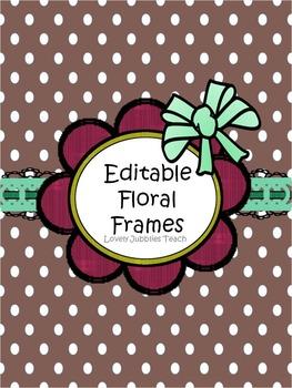 Editable Floral Frames (Round)