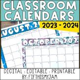 Editable Calendar 2019 - 2020